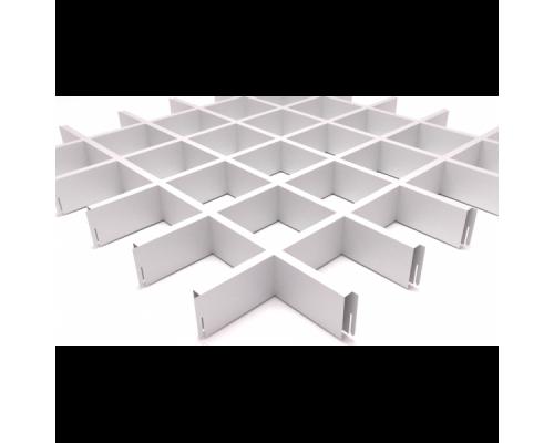 Подвесной потолок Грильято Белый 100x100x40