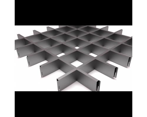 Подвесной потолок Грильято Серый 100x100x40 мм