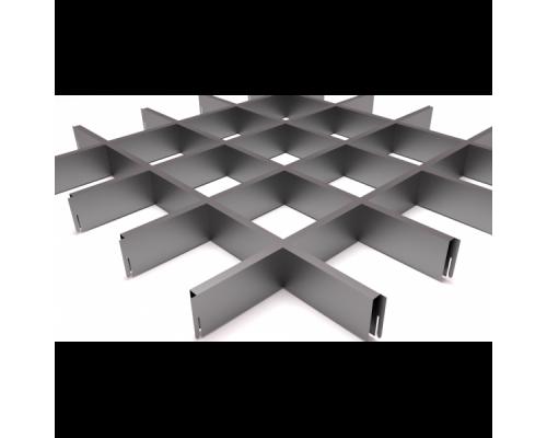 Подвесной потолок Грильято Серый 120x120x40 мм