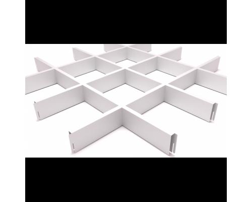 Подвесной потолок Грильято Белый 150x150x40