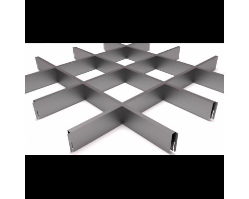 Подвесной потолок Грильято Серый 150x150x40 мм