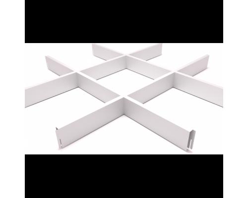 Подвесной потолок Грильято Белый 200x200x40