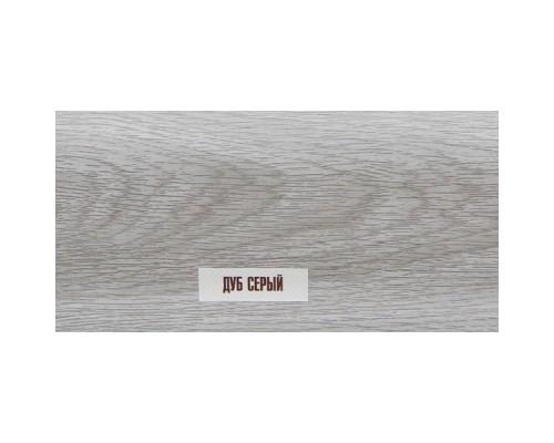 214 Дуб серый напольный пластиковый плинтус пвх Идеал Элит Макси 85х25х2500 мм