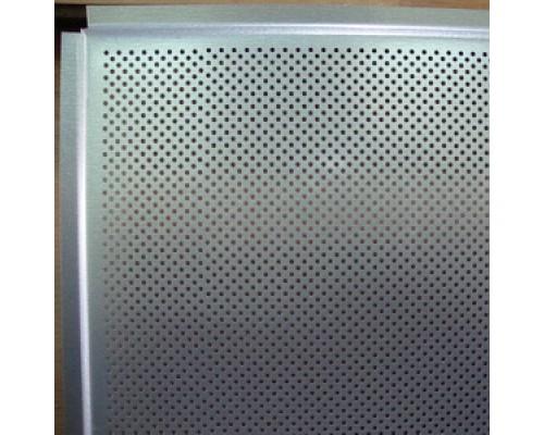 Кассета Албес  Металлик перфорированная  600х600 Tegular (алюминий, толщ. 0,32мм)