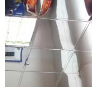 Кассета Албес АР600А6 / Т24 Суперхром 600х600 Tegular (алюминий, толщина 0,32 мм)