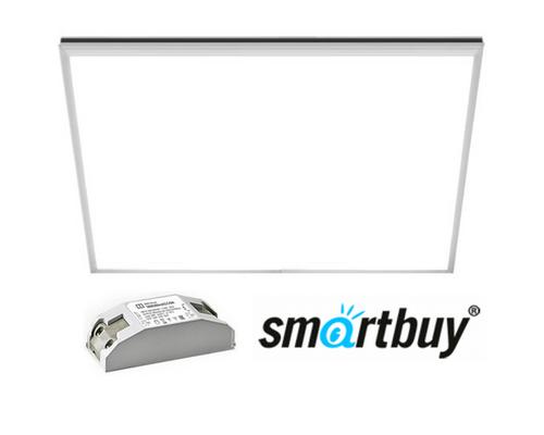 Панель светодиодная Армстронг Smartbuy SBL-P-40W-45K ультратонкая 595х595х10мм 40Вт Опал 4500К Белый свет с Эпра
