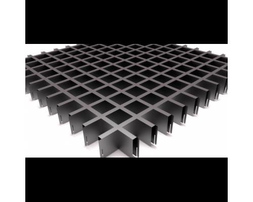 Подвесной потолок Грильято серый металлик 50x50x40 мм