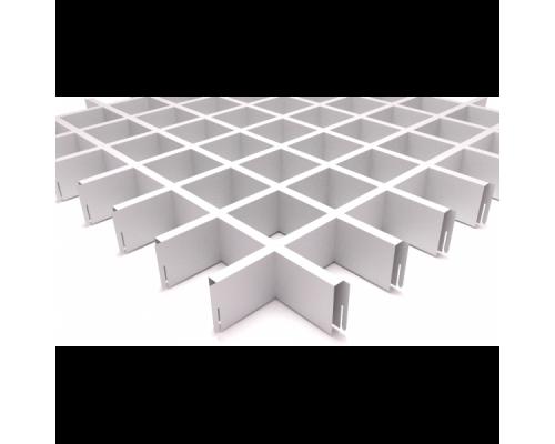 Подвесной потолок Грильято Белый 75x75x40 мм