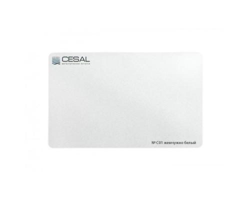 Кассета Cesal Жемчужно-белая глянцевая C01 600x600 мм