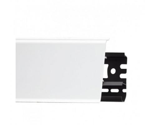 Плинтус Идеал Система белый глянцевый 80х22х2200 мм