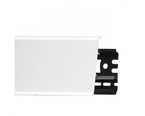Плинтус Идеал Система белый матовый 80х22х2200 мм