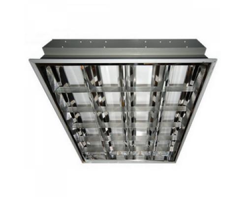 Светильник Армстронг растровый 600х600 люминесцентный 4х18 цена с лампами