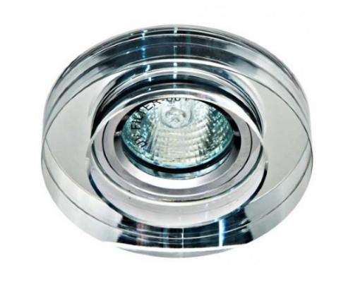 Светильник Feron 8080-2 прозрачный, серебро