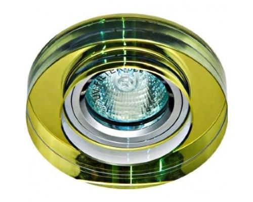 Светильник Feron 8080-2 желтый, серебро